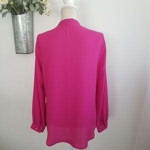 Violet & Claire Tops - Violet+Claire | Magenta Blouse Cuffed Sleeves /A21